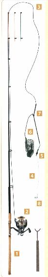 Bottom-fishing rods for fishing river white bream