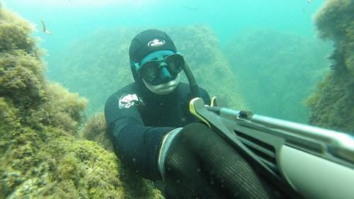 Использование маски для подводной охоты