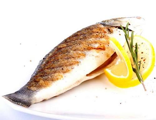 Рыба сибас приготовленная на гриле