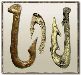 изображение доисторических рыболовных крючков