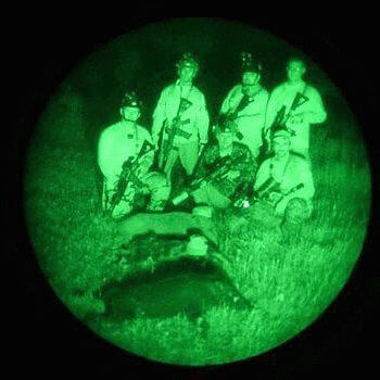 Hunting with night vision goggles