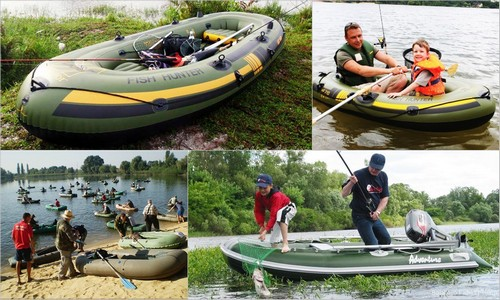 Selection of inflatable boats for fishing