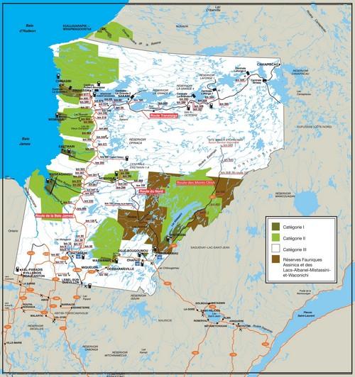 Карта земель залива Джеймс