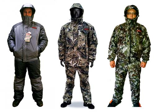 The float suit for winter fishing Russian production