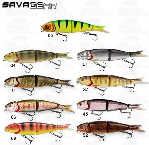 These different lures Savage Gear