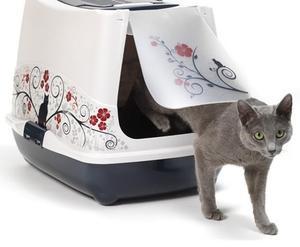 Декоративный закрытый лоток для кошек