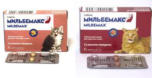 Таблетки Мильбемакс для кошек и собак