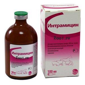 антибиотик для кошек - Интрамицин