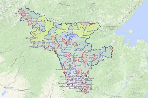 Карта охотника — Амурская область, Дальний восток