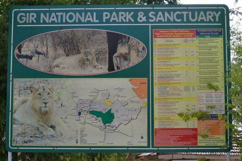 Gir National Park (1,412 km2), Gujarat
