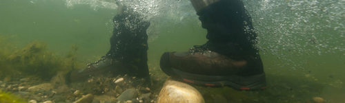 Simms Wading Boots in action