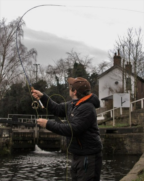 Casting with the Forty Plus sniper line and Airflo Bluetooth fly rod