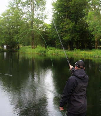 Roll casting with the SuperFlo stillwater taper