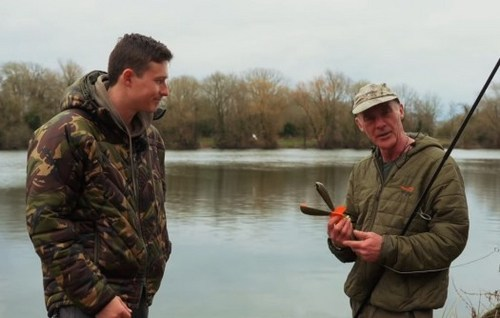 Dave Lane carp angler with the Midi Airbomb