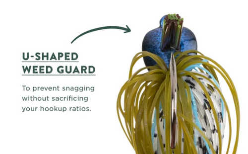 Googan Squad Jig - U Shaped Weedguard