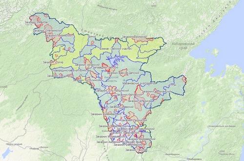 Карта охотника - Амурская область, Дальний восток