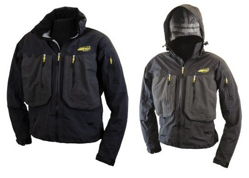 Airtex Pro Wading Jackets - hood up and hood down