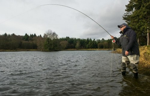 Airflo Airtex Pro fly fishing jacket in action