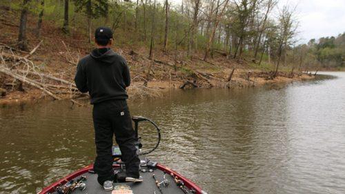 angler fishing brush